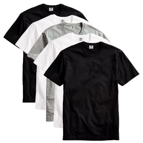 Kit com 5 Camiseta Masculina Básica Algodão Premium Colors - Part.B