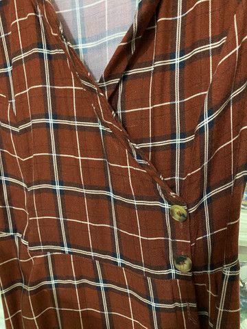 Vestido longo/midi Springfield xadrez 36 - Foto 4