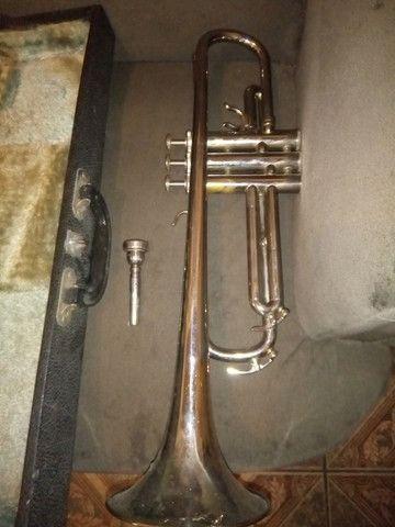 Trompete Completo com Estojo - Foto 4