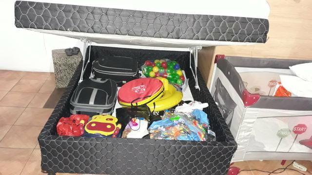 Cama box com baú usada
