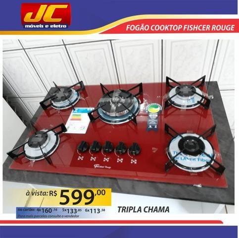 Fogão cooktop fischer rouge