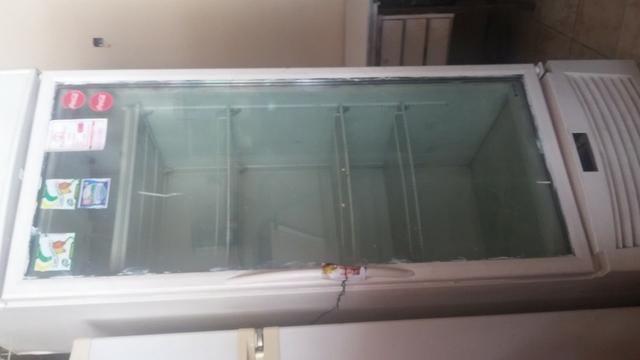 Máquina frangueira e geladeira vitrine - Foto 3