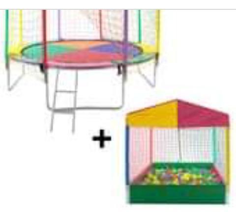 Aluga cama Elastica e piscina de bolinha