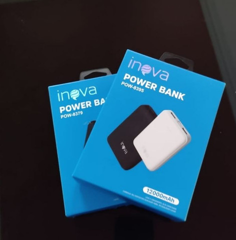 Carregador portátil Power bank inova 12000mAh