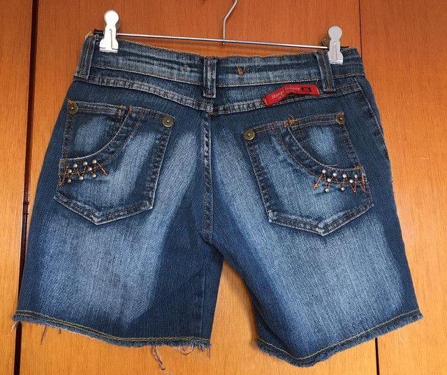 Bermuda jeans feminina - Foto 2