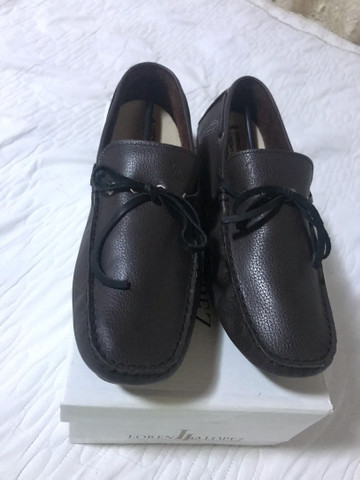 Sapato masculino marrom tamanho 40 - Foto 2