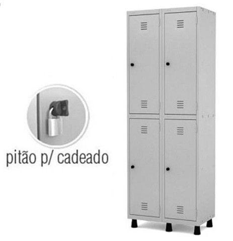 Roupeiro de de aço 04 portas, armário aço vestiário