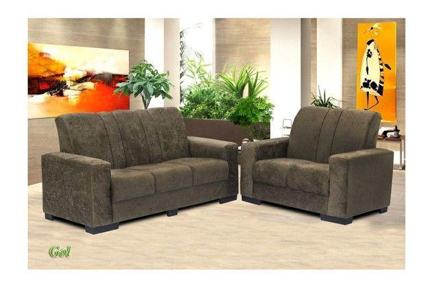 Jogo de sofa tecido de suede novo entrega grátis  - Foto 3
