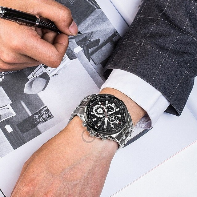 Relógio masculino prova dágua edifíce100% funciona - Foto 2