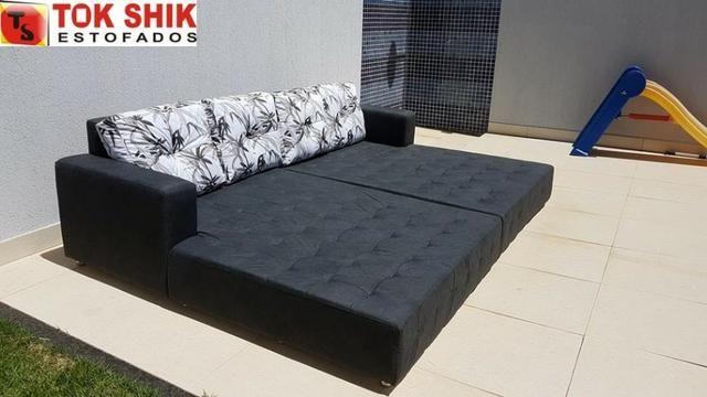 Sofá para área de piscina SF338 revestido em material impermeável