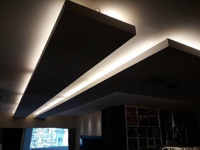 Rebaixamento de teto - divisórias - elétrica - pintura - forro mineral - piso laminado - Foto 4