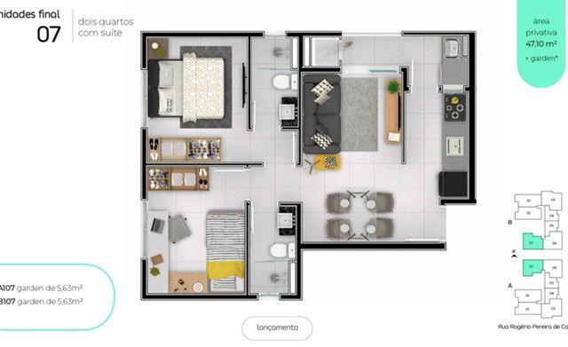 Apartamento de 2 quartos de alto padrão - 200 metros da Universidade Positivo :) - Foto 7