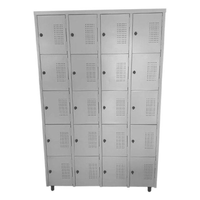 Roupeiro de aço 20 portas, guarda volumes, armário vestiário - Foto 2