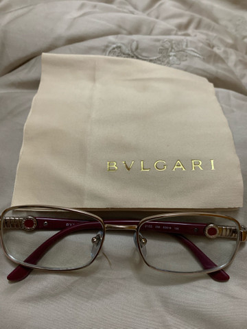 Óculos Bvlgari prata e vinho - Foto 2