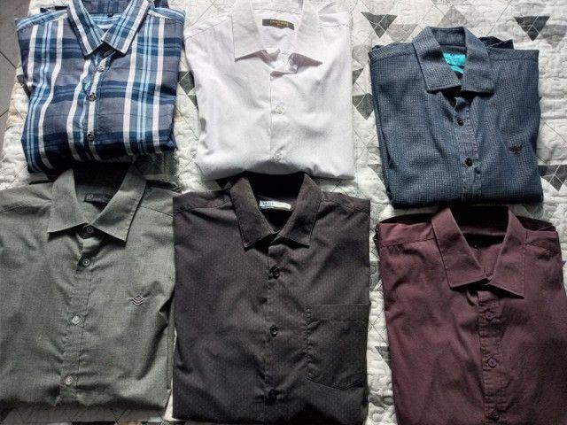 Camisetas Sociais manga longa. Tam g