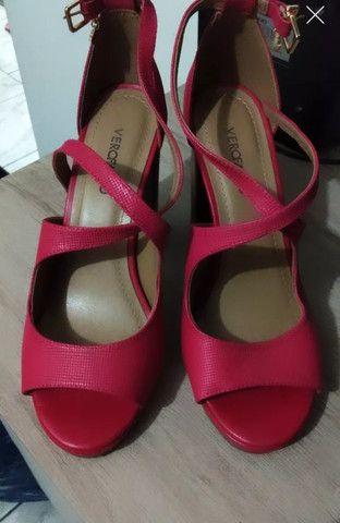 Sandália Verofatto nova tamanho 36 vermelha - Foto 4