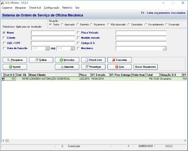 sistema oficina mecanica em geral sem mensalidade