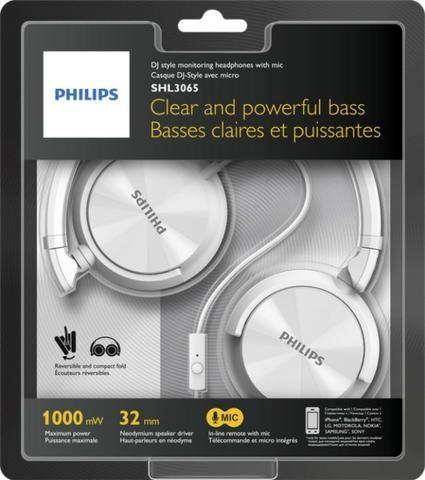 Fone de Ouvido C/Microfone Philips SHL-3065WT