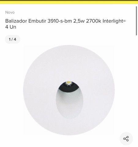 Vendo balizador de embutir 3000K branco quente