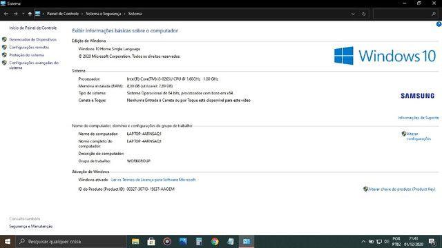 Notebook Samsung 8GB de memória I5 8a geração Linha Expert x30 - Foto 6