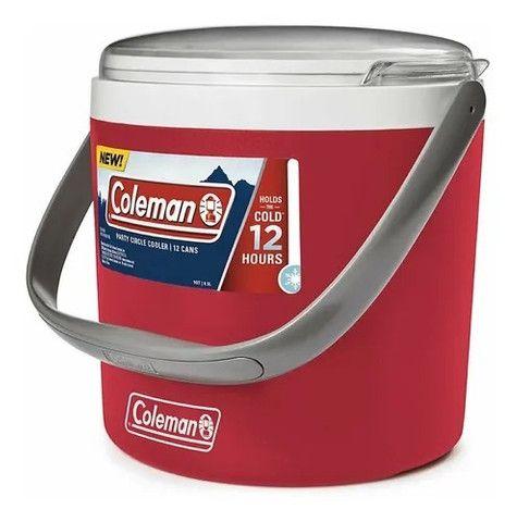 Cooler Térmico Coleman Circle 8,5 L Vermelho Até 12 Latas - Foto 3