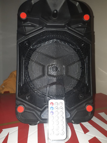 Caixa de som bluetooth com entrada para microfones  - Foto 5