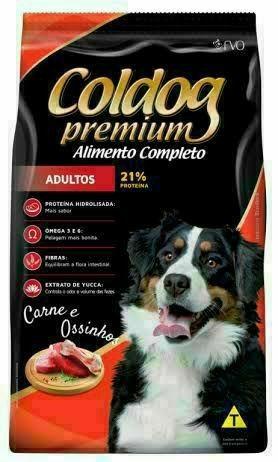 Ração Coldog Premium Adulto 25kg ' Carne e Ossinhos '