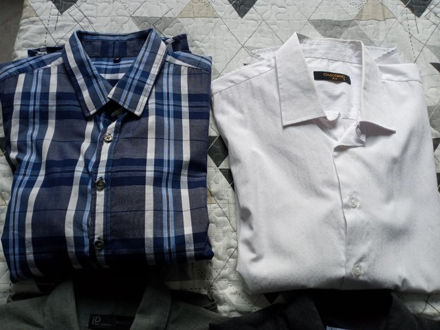 Camisetas Sociais manga longa. Tam g - Foto 4
