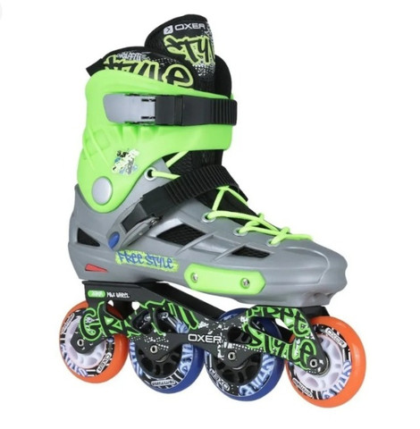 Kit Patins Oxer Inline Freestyle Abec 7