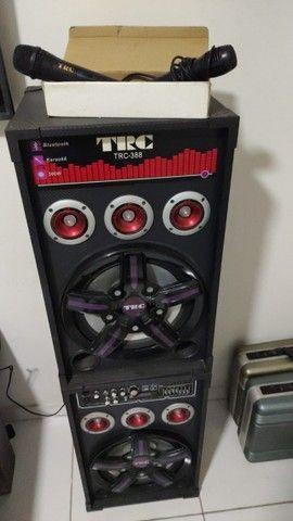 Caixa Amplificada TRC 388 com 500W - Em perfeito estado