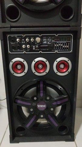 Caixa Amplificada TRC 388 com 500W - Em perfeito estado - Foto 3