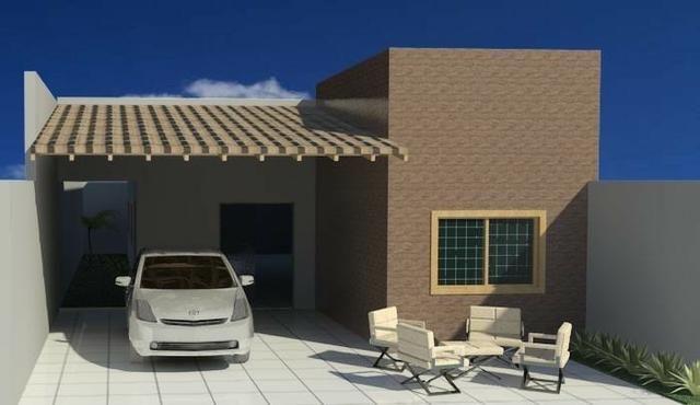 Casa nova em fase de construção próx da Faete com 3 Q sendo 2 suítes churrasqueira financi