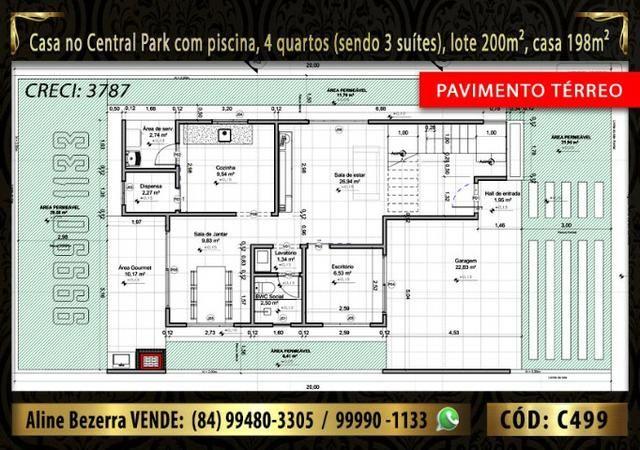 Duplex com piscina, 4 quartos, condomínio Central Park, facilita a negociação - Foto 5
