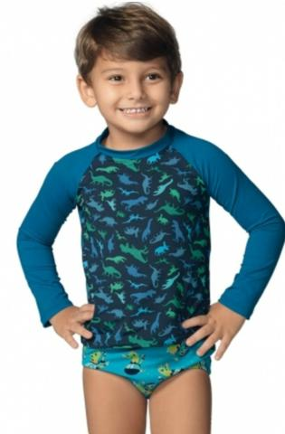 Blusas Manga Longa Proteção Solar UV Demillus Infantis