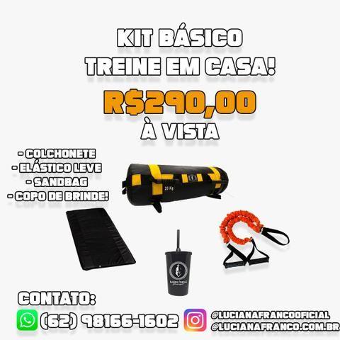 Kit Treino Funcional - Treino em casa - Colchonete + Elástico + Sandbag (Powerbag) - Foto 5