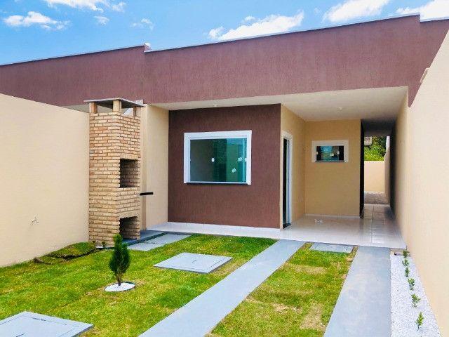 WS casa nova com 3 quartos,2 banheiros,coz.americana,quintal com otima localização - Foto 2