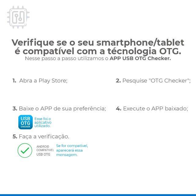Cabo Otg Tipo C X Usb 3.0 Fêmea Para Celular Smartphone Tablet - Foto 3