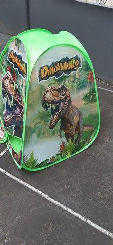 Tenda dinossauros dobrável- medidas: 0.72 x 0.70 x 0.92 cm.- nova. - Foto 3
