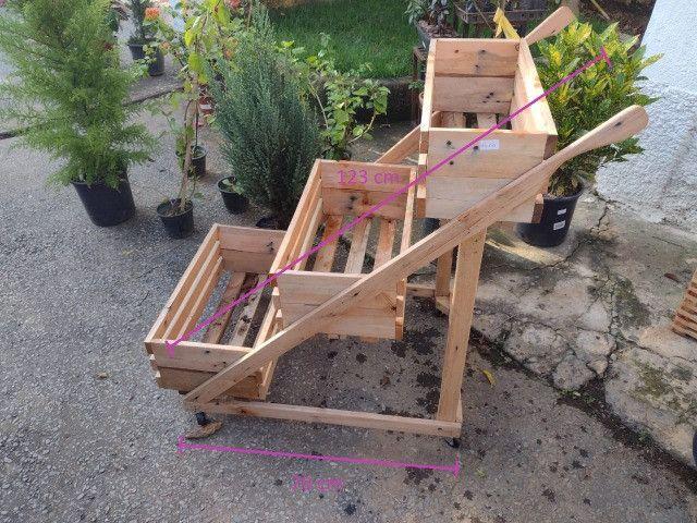 Suporte pra planta com roda (Carrinho para plantas) - Foto 2