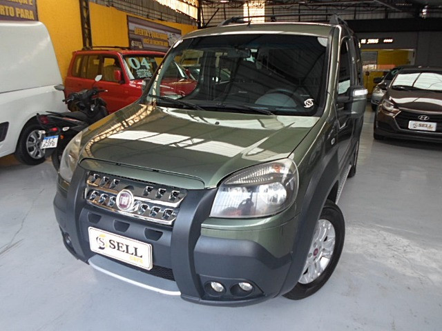 Fiat - Doblo Adventure Xingu 2013 Verde 6 Lugares Completo - Foto 2
