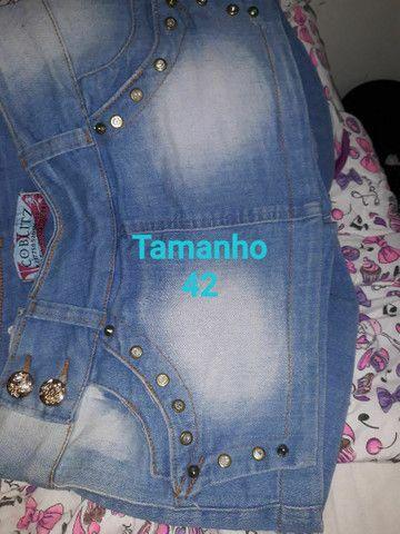 Shorts-Saias jeans todos NOVOS.<br>OBSERVE Confecção Pequena. São lindas aproveitem.