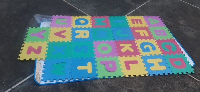 Tapete infantil abecedário em e.v.a- novo- na embalagem.  - Foto 5