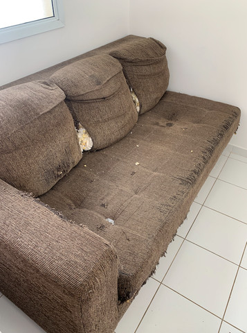 sofá-cama com chaise, usado - Foto 3