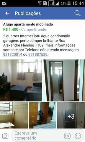 Alugo apartamento mobiliado 2quartos