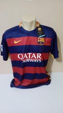 483ac01ca73e Camisa Barcelona Uniforme 1 2015 2016 Tamanho G Douglas S Numero 16