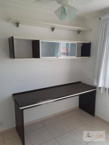 Apartamento com 2 dormitórios para alugar, 46 m² por r$ 1.050,00/mês - parque villa flores - Foto 10