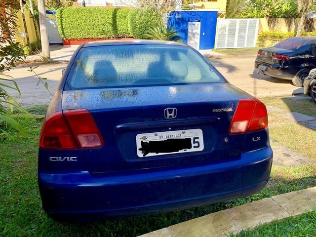 Honda Civic 1.7 automático azul - Foto 2