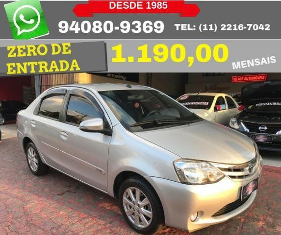Toyota Etios sedan xls 1.5 automatico 2017 zero de entrada