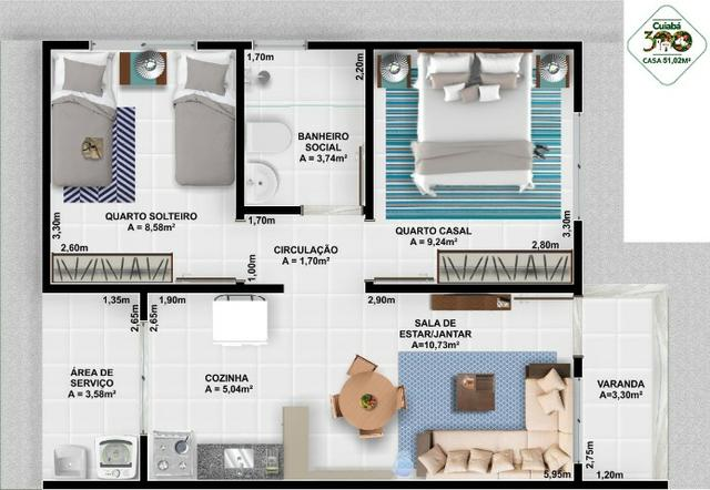 Vendo Casa no Condominio Cuiabá 300 (não perca esta oportunidade) - Foto 9