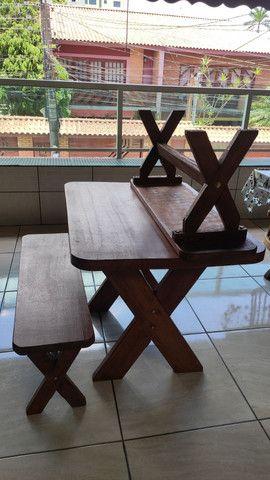 Mesa de madeira maciça - Foto 3